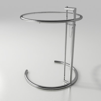 3d model of table eileen gray - Eileen gray table original ...