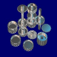 18 tooth gear set 3d model