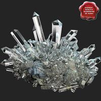 mineral quartz 3d model