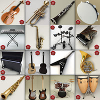 Music Instruments Collection V7
