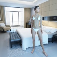 Woman Bikini Rigged VRay