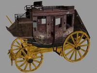 classic stage coach 3d max