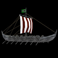 Viking Boat - Low Poly