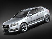 3d audi a3 2009 3-door model