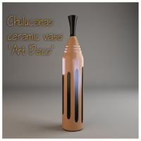 Chulucanas ceramic vase Art Deco