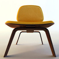3d cafeteria chair model