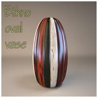 Ethno oval vase