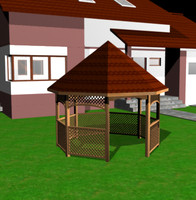 gazebo arbour 3d 3ds