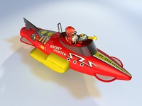 3d flash gordon fighter toys model