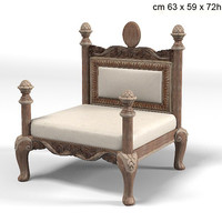 savio firmino 2 dog`s bed 3063a classic baroque chair pet armchair