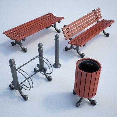 Street furniture set01