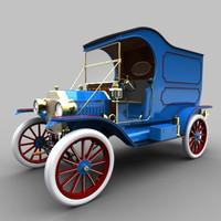 t delivery van 1913 3d model