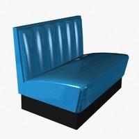 diner bench 3d 3ds