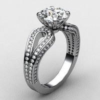 Engagement ring white gold 5