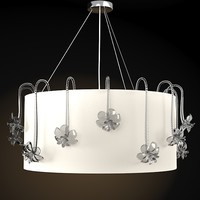 BAROVIER TOSO HONOLULU ROUND CEILING LAMP PENDANT MODERN CONTEMPORARY NEO CLASSIC CRYSTAL GLASS