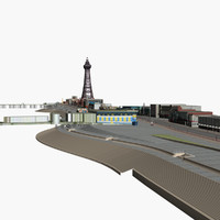 blackpool modelled 3d model