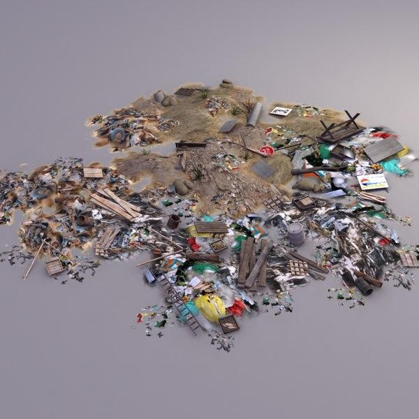 garbage dump 3d model