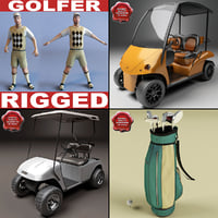 golf set car 3d max
