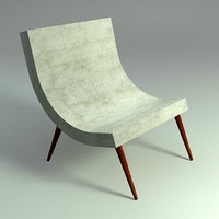 CURVE LOUNGE CHAIR - Mental Ray Materials