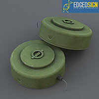 3d model m15 anti-tank landmines