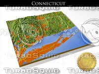 Connecticut, High resolution 3D relief maps