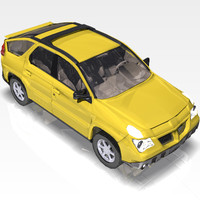 3ds max car pontiac aztek