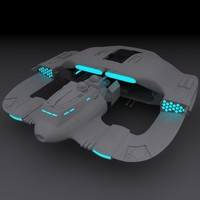 starship star ship 3d model