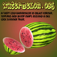 watermelon summer obj