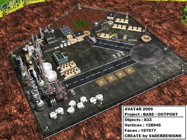avatar base outpost 3d model - AVATAR2009 Outpost / Battlebase... by 3D.A.G