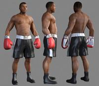 male boxer 3d max