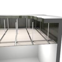 3d model ceiling construction