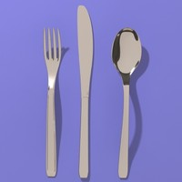 fork spoon knife 3d model