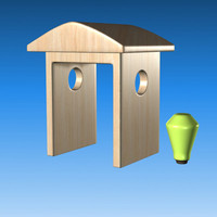 free cartoon house 3d model