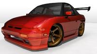 Stylized Nissan 180sx