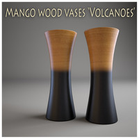 Mango wood vases Volcanoes