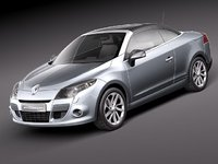 3d renault megane 2011 sport coupe model