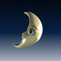 3d model moon cartoon