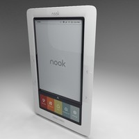 barnes noble nook 3d model