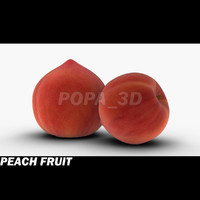 3d photo realistic peach model