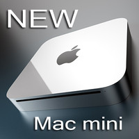 new apple mac mini 3d model