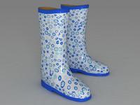rubber boots 3d model