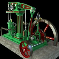 Single Column Beam Engine, 1870's