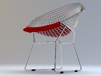 diamond chair bertoia 3d model