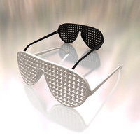 Sunglasses crisscross shutter shades
