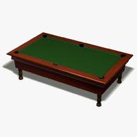 billiard pool 3d model