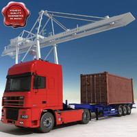 Container Truck and Port container crane