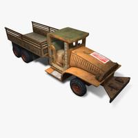 desert army truck 3d model
