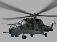 Mil Mi35 M Russian Helicopter Gunship Game Ready