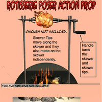 Rotisserie Poser action Prop
