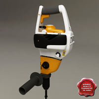 stihl bt 45 wood 3d model